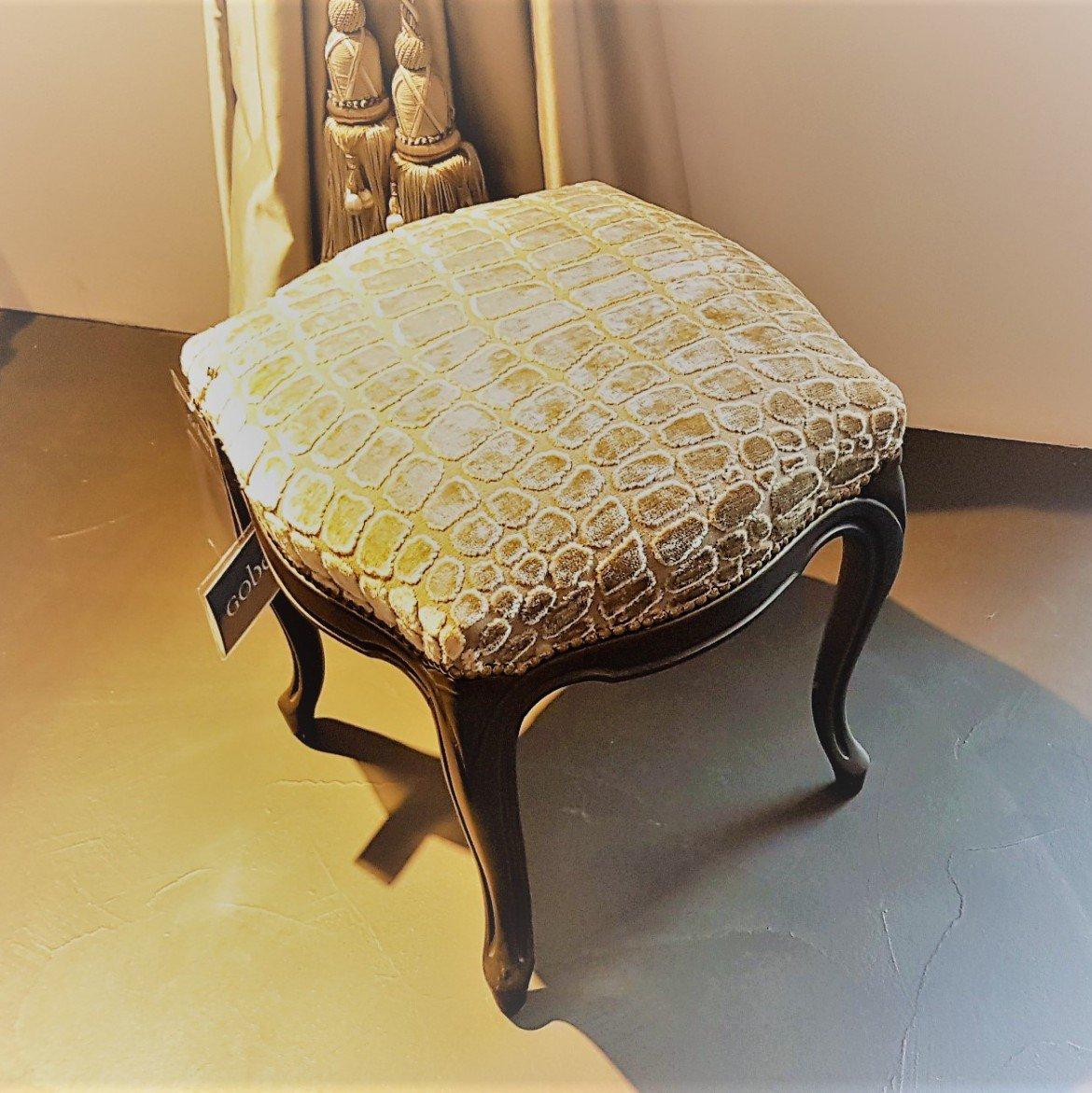 Banquette pouf bois massif classique gobet meubles for Gobet meubles